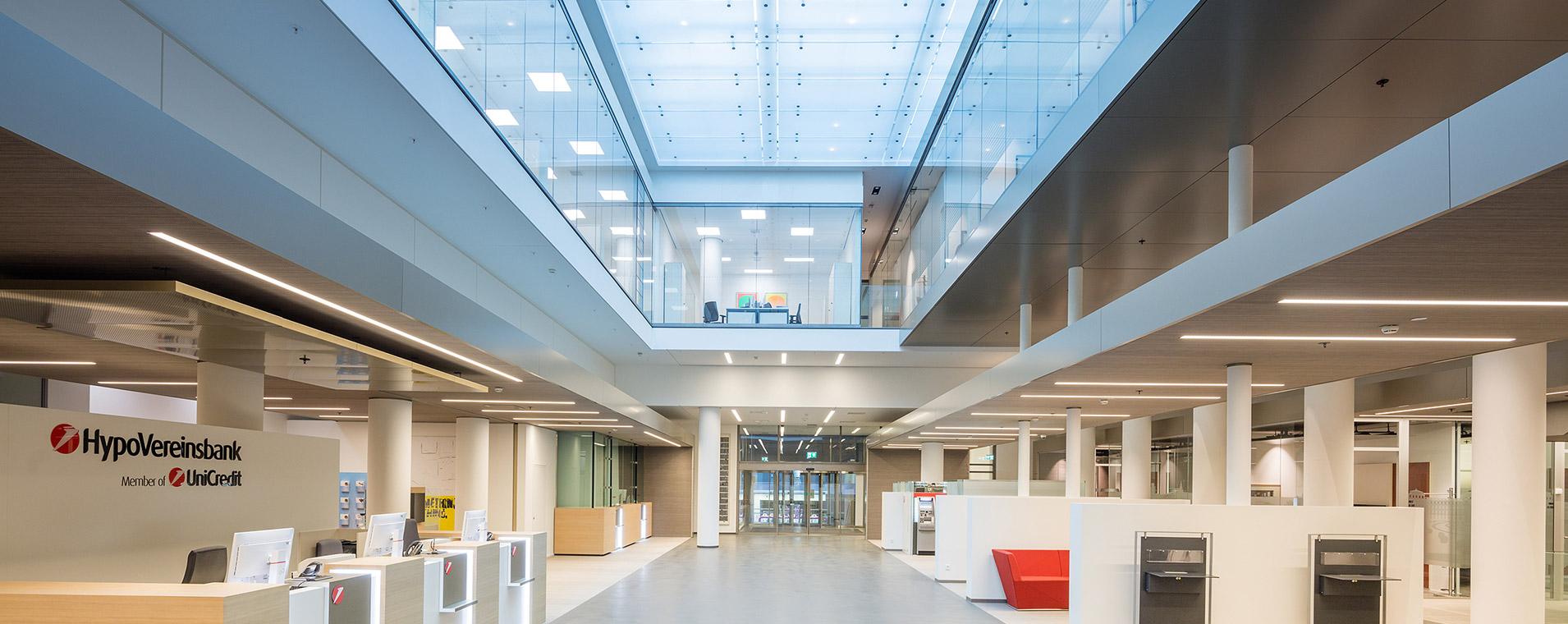 Bank Architektur HVB München